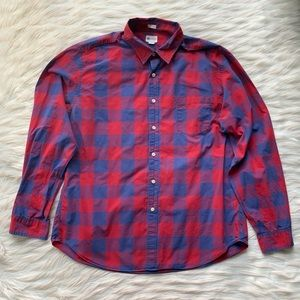 J.Crew Factory Tailored Fit Check Paid Button Down